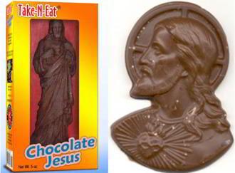 chocolate Jesus in gift box
