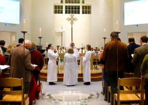 First Eucharist Celebrated at Virginia Seminary's Restored Immanuel Chapel