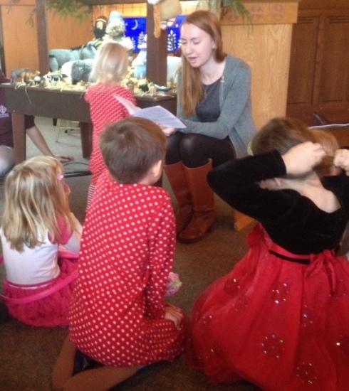 Clara reading 2015 Christmas Story
