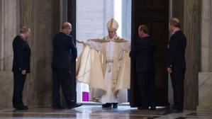Francis opens the door