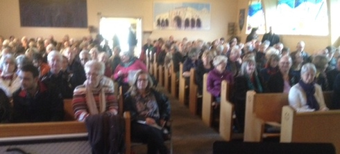 some of the 250 people packed into St. Philip today to hear about Syrian culture
